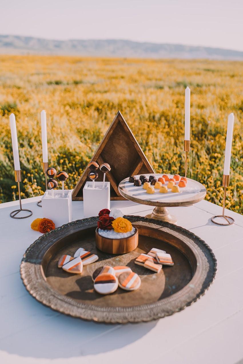 Boho Wedding Desserts