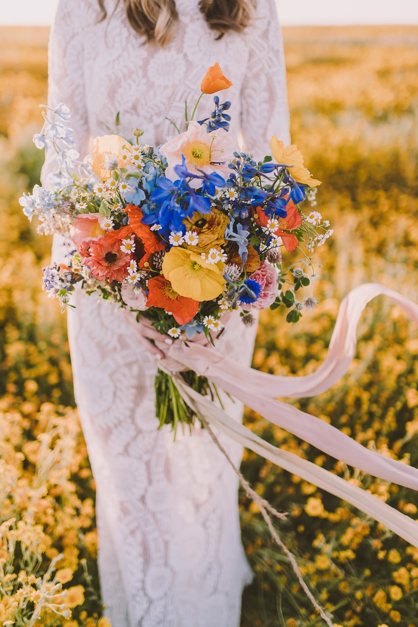 Boho Wildflower Bridal Bouquet