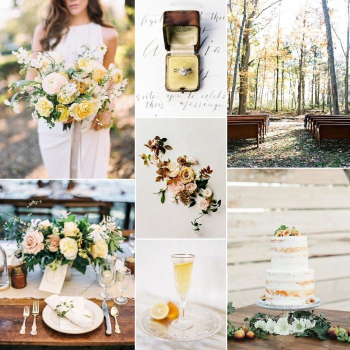 Autumn Yellow Wedding Inspiration Board