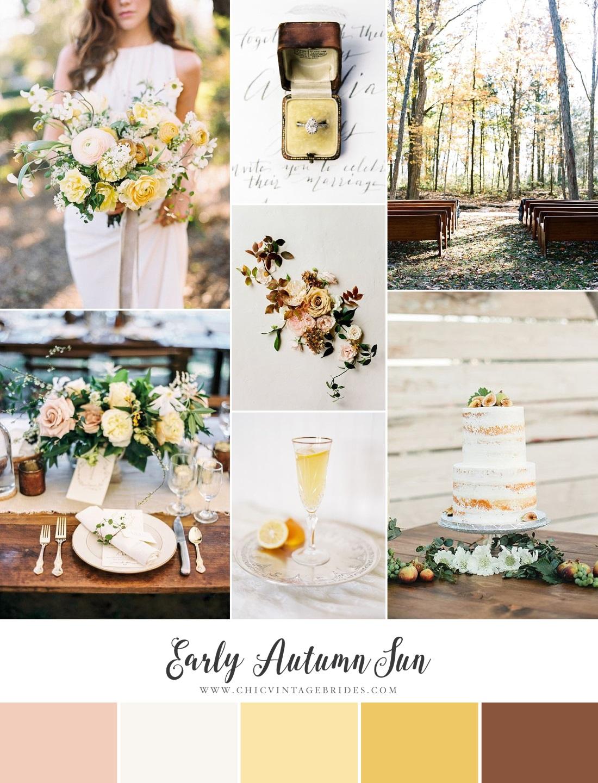 Autumn Yellow Wedding Inspiration Board