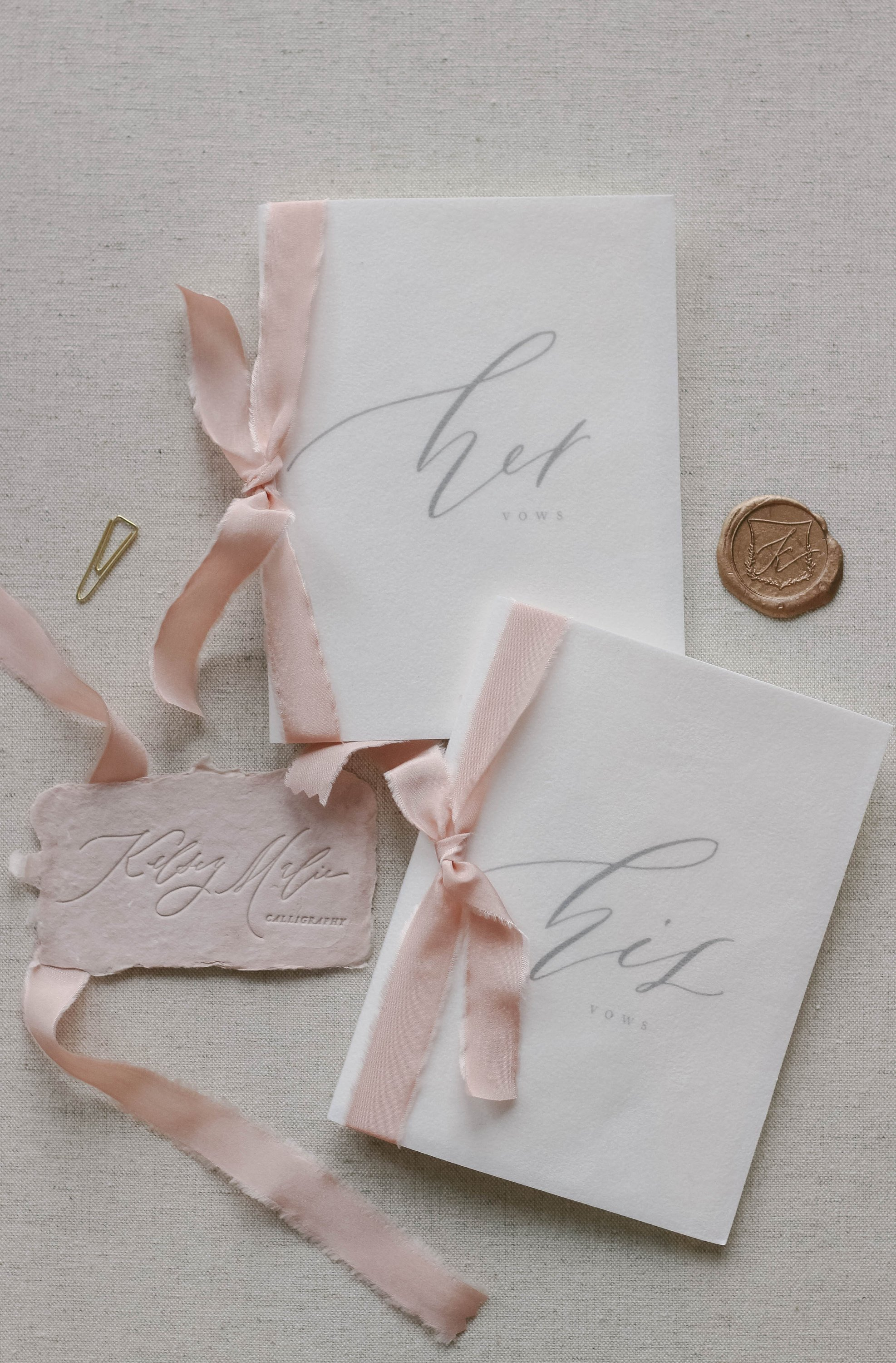 Calligraphy Wedding Vow Books