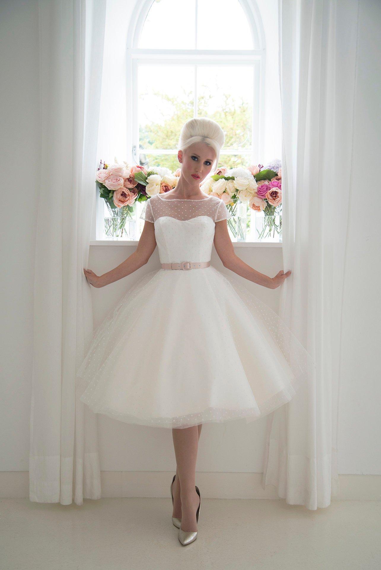 Dottie Tea Length Wedding Dress