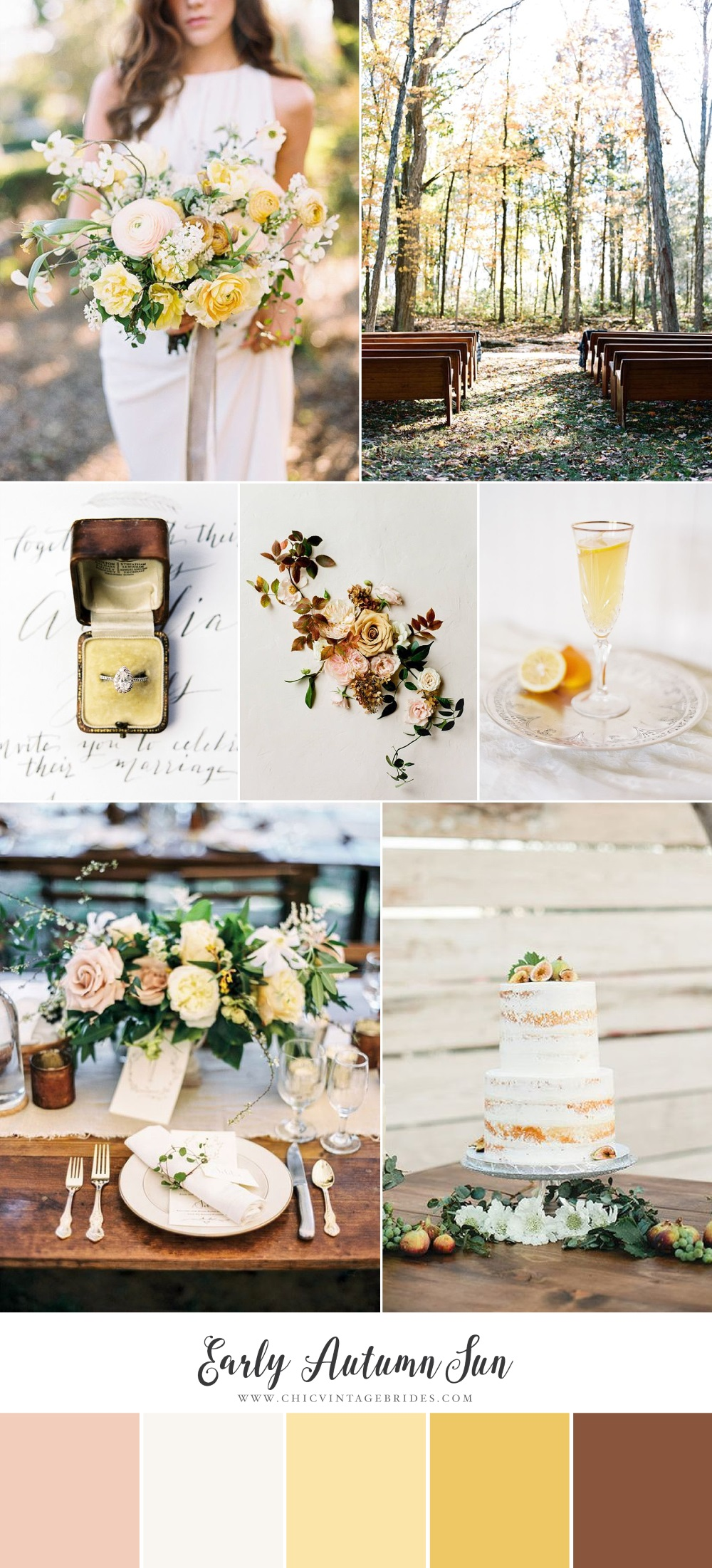 Early Autumn Sun Wedding Inspiration Board