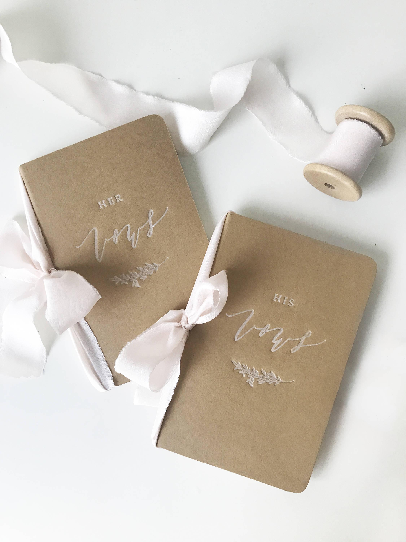 Kraft Paper Vow Books