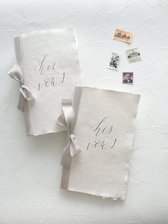 Handmade Paper Vow Books
