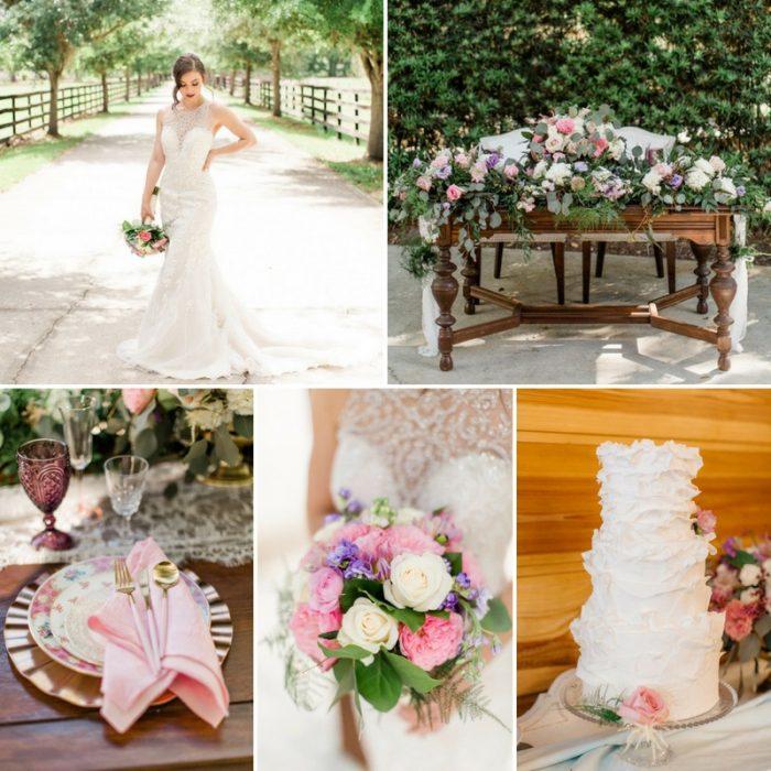 Pastel Garden Wedding Inspiration at Club Lake Plantation