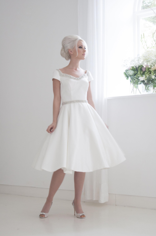 Phoebe Tea Length Wedding Dress