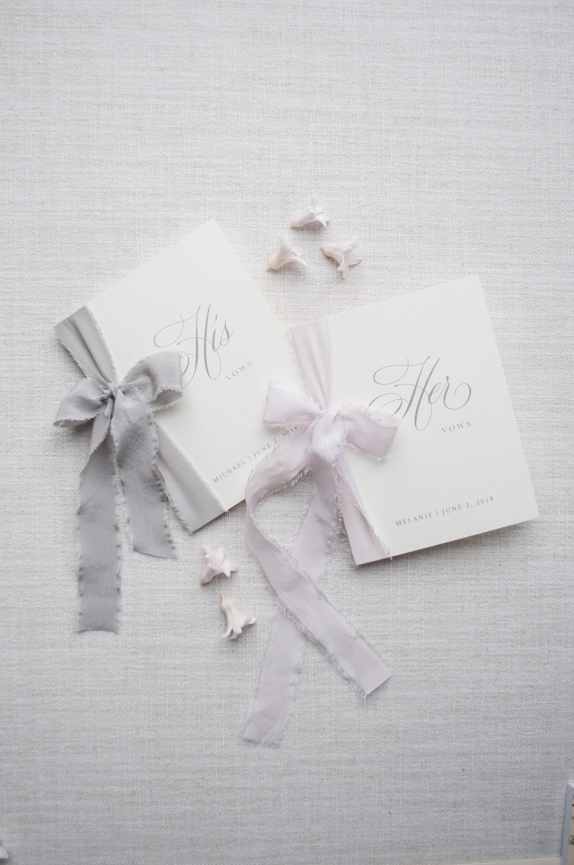 Linen Vow Booklet