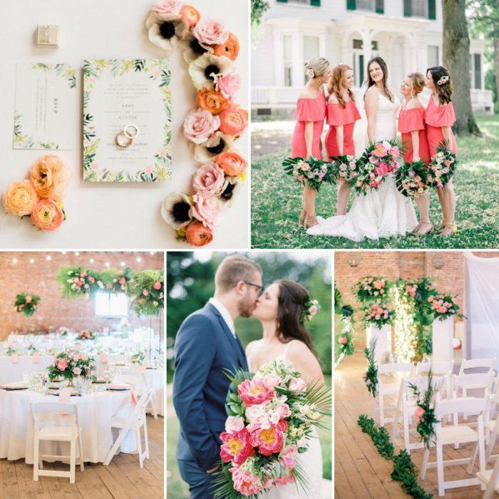 Vibrant Tropical Summer Wedding