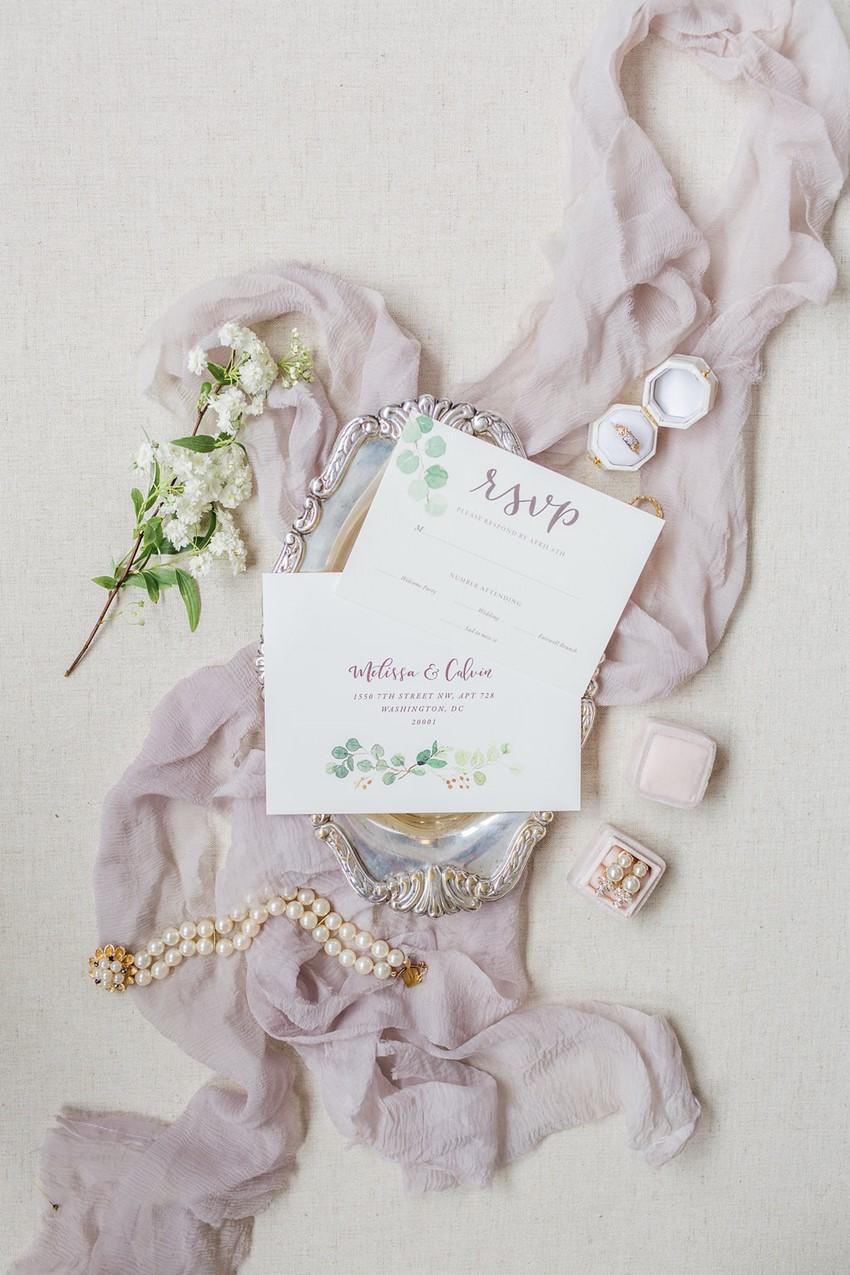 Watercolor Wedding Invitation