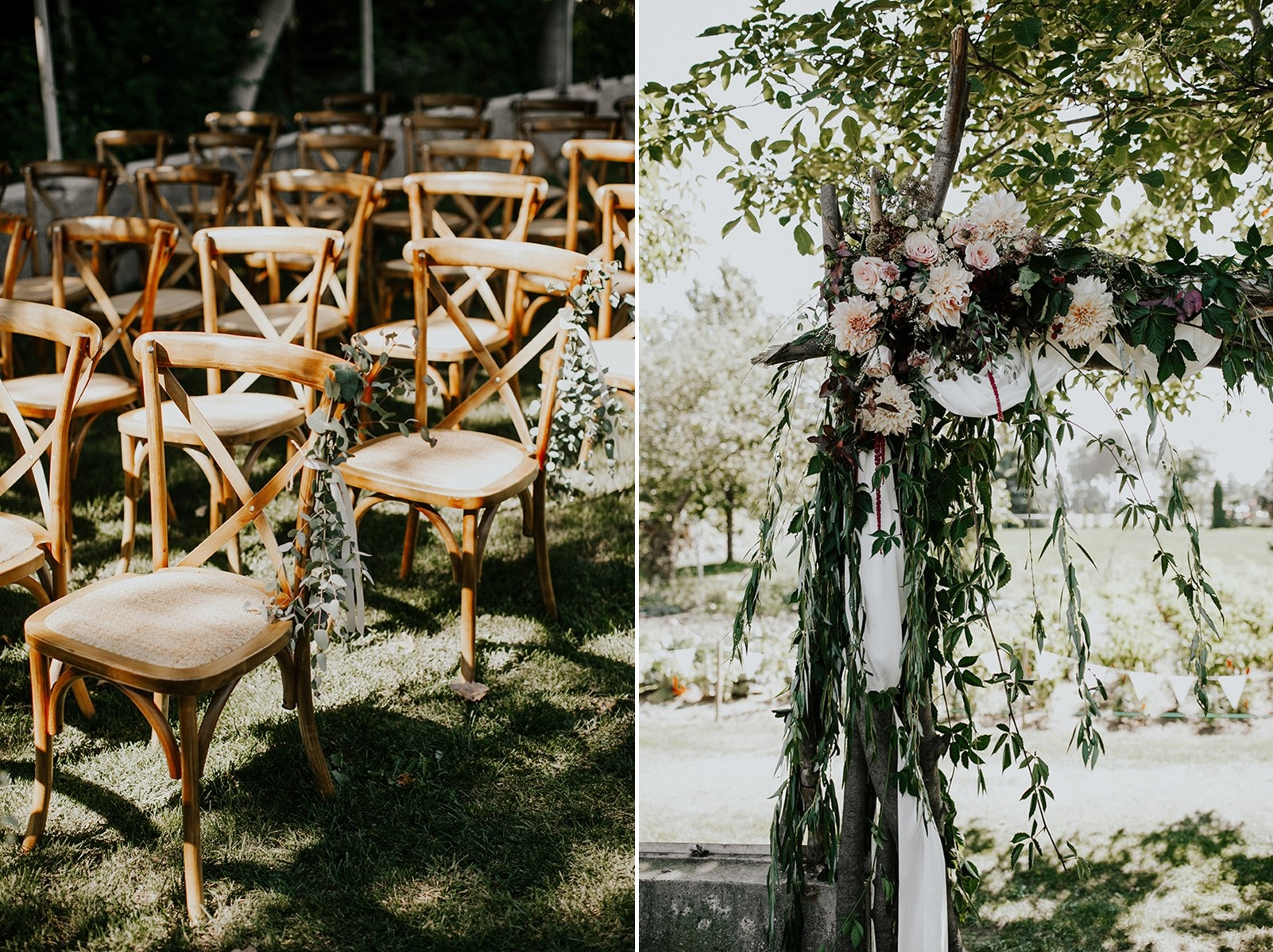 Canada Fall Backyard Wedding