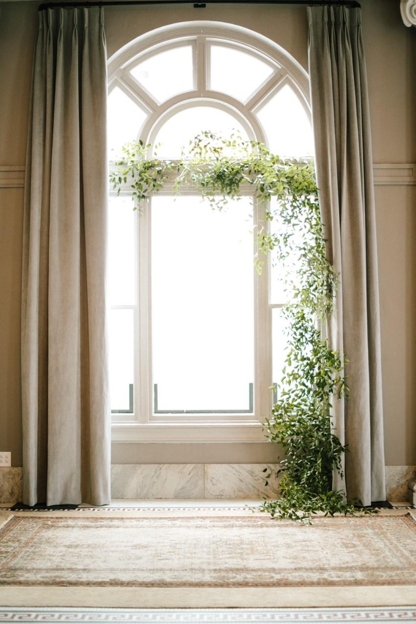 Simple Greenery Wedding Ceremony Decor