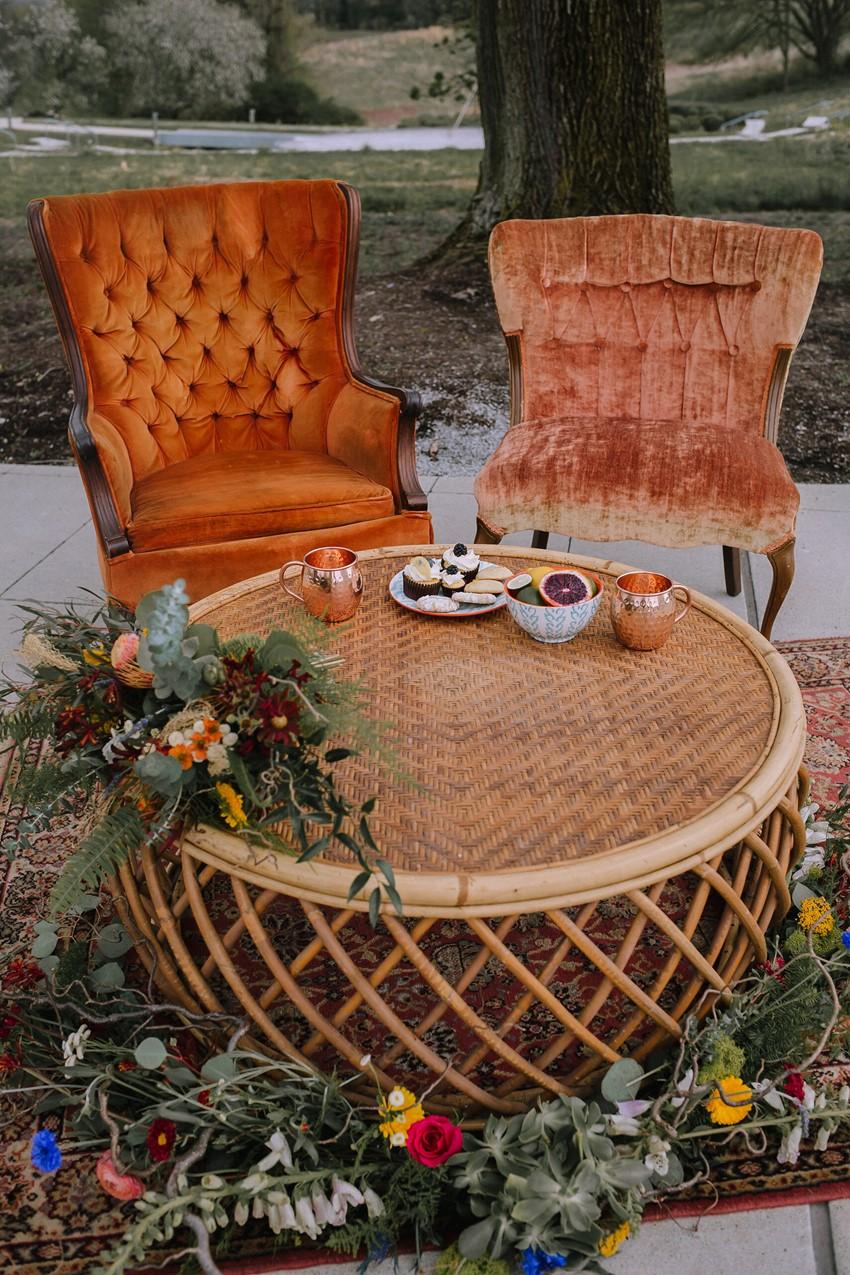 Boho Vintage Wedding Lounge
