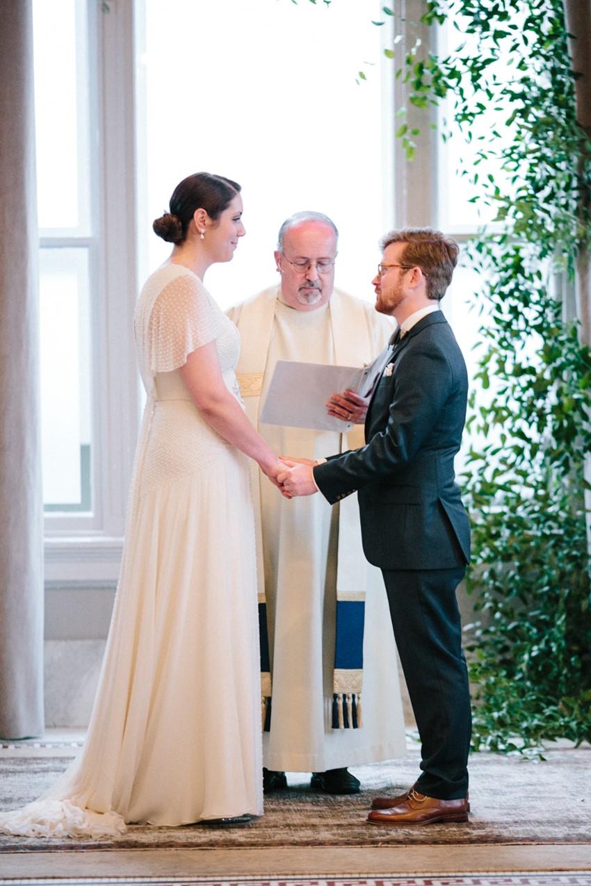 Simple Indoor Wedding Ceremony