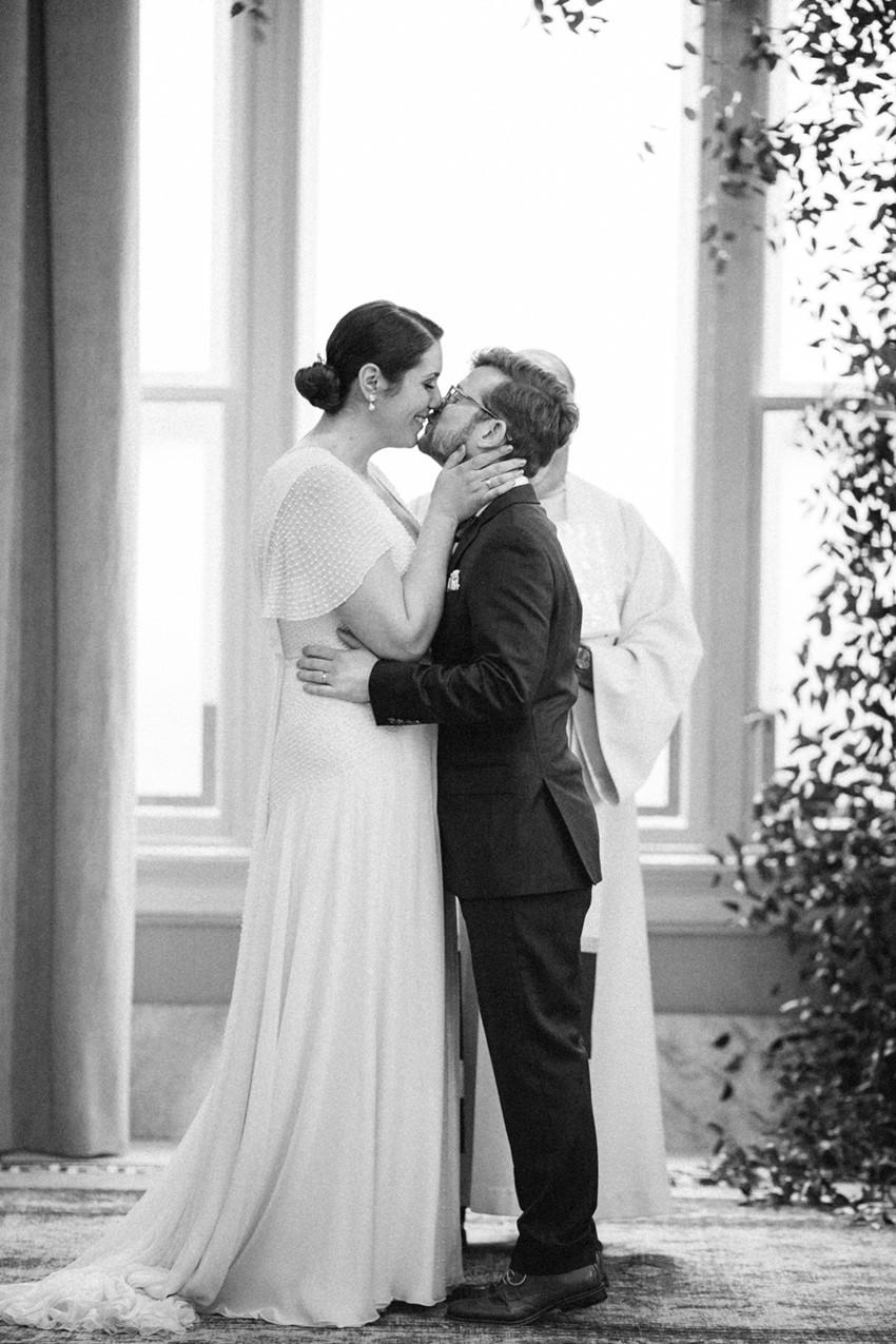 Black & White Wedding Ceremony Photos