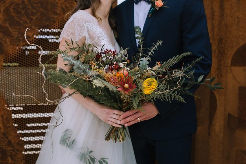 Boho Vintage Fall Bridal Bouquet