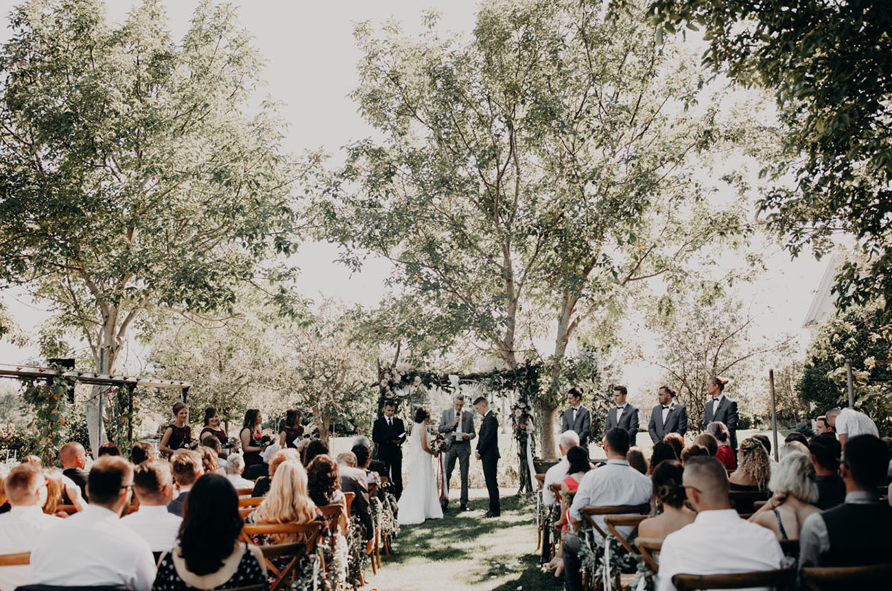 Canada Fall Backyard Wedding Ceremony