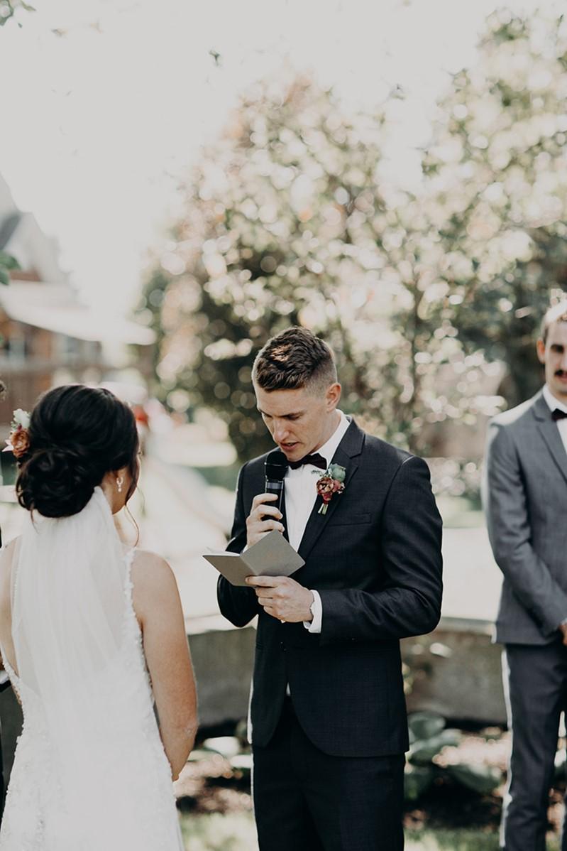 Canada Fall Backyard Wedding Ceremony