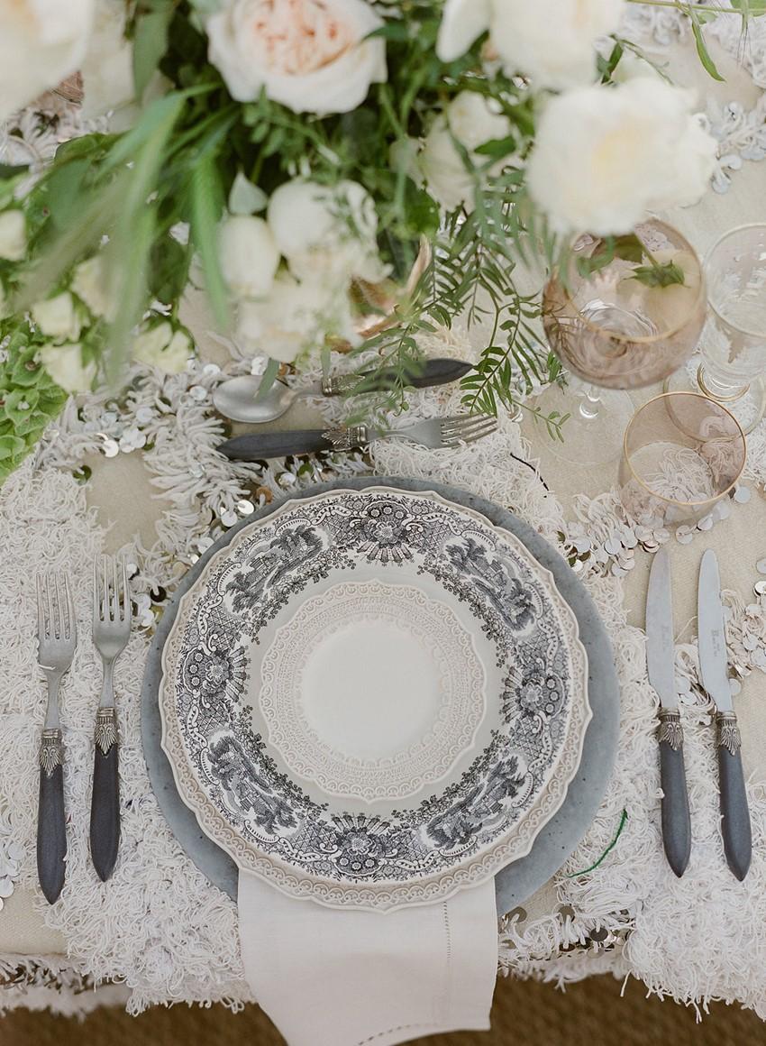 Modern Vintage Wedding Place Setting