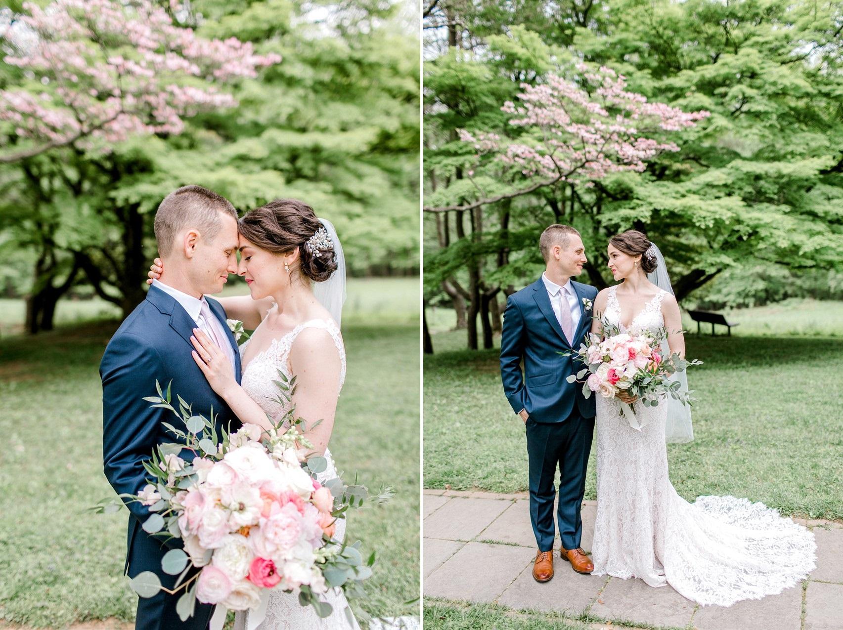 Romantic Blue & Pink Garden Wedding