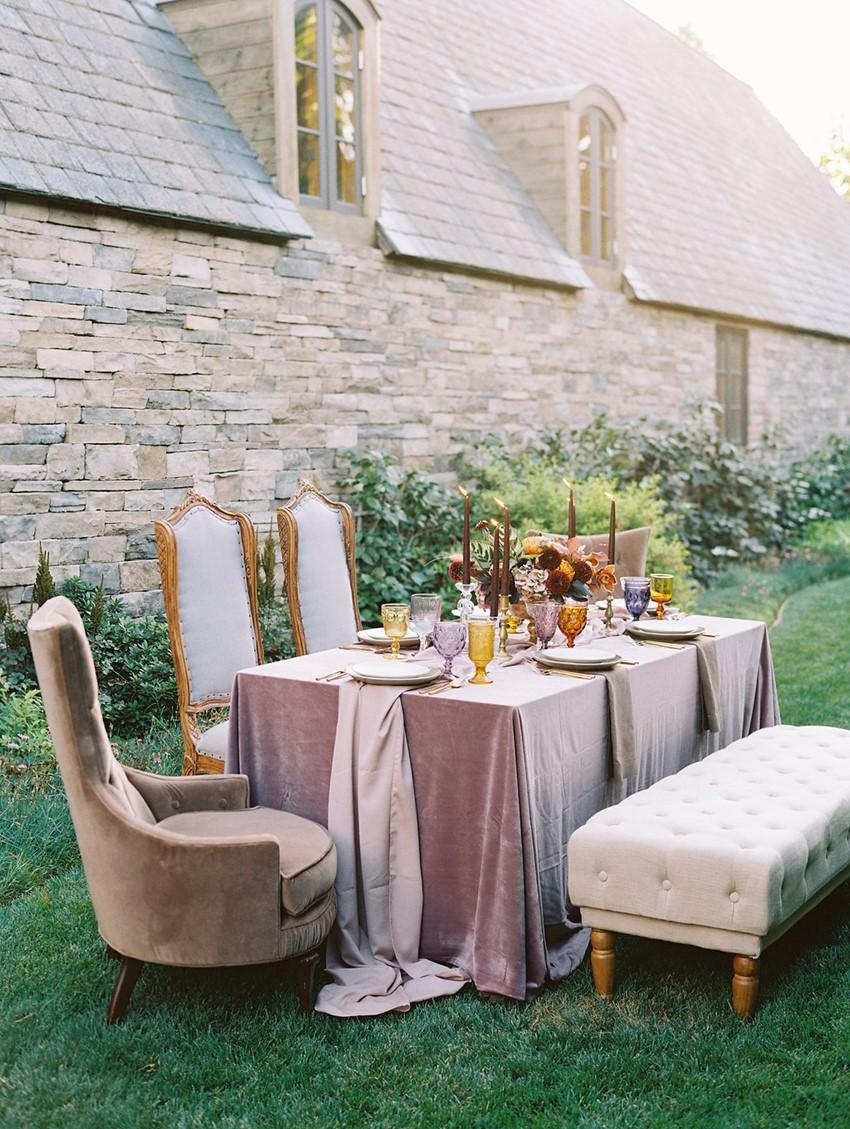 Modern Vintage Fall Wedding Table