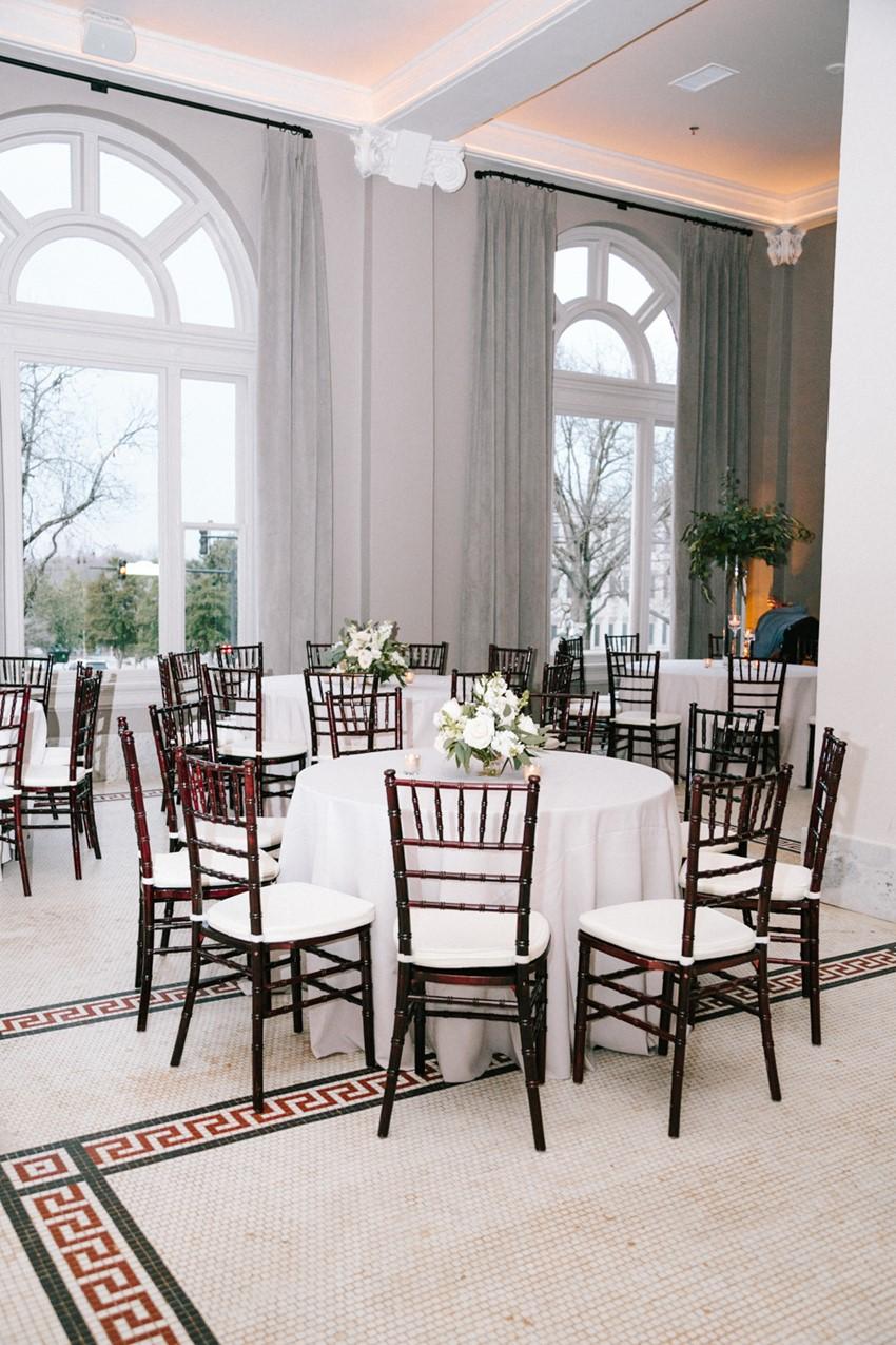 Classic Indoor Wedding Reception