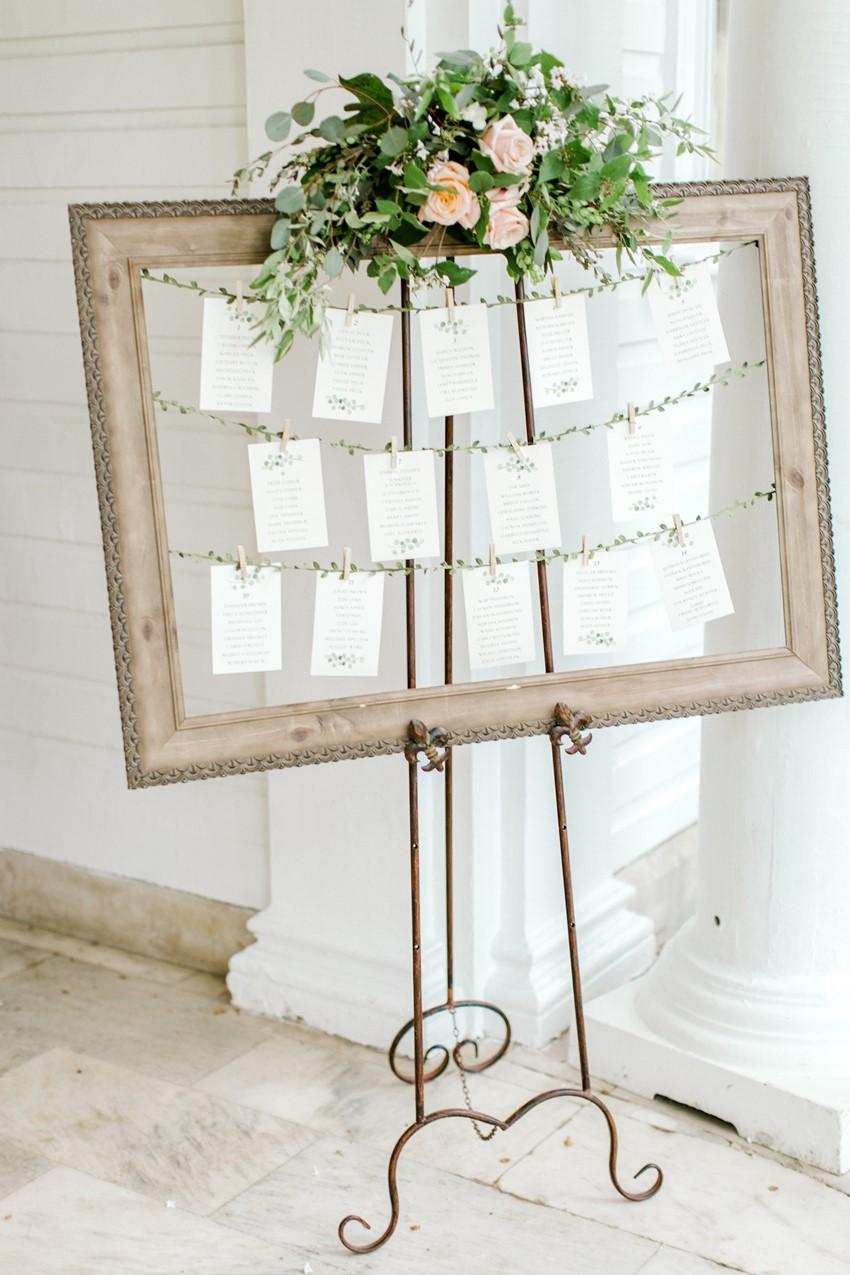 Romantic Wedding Seating Chart