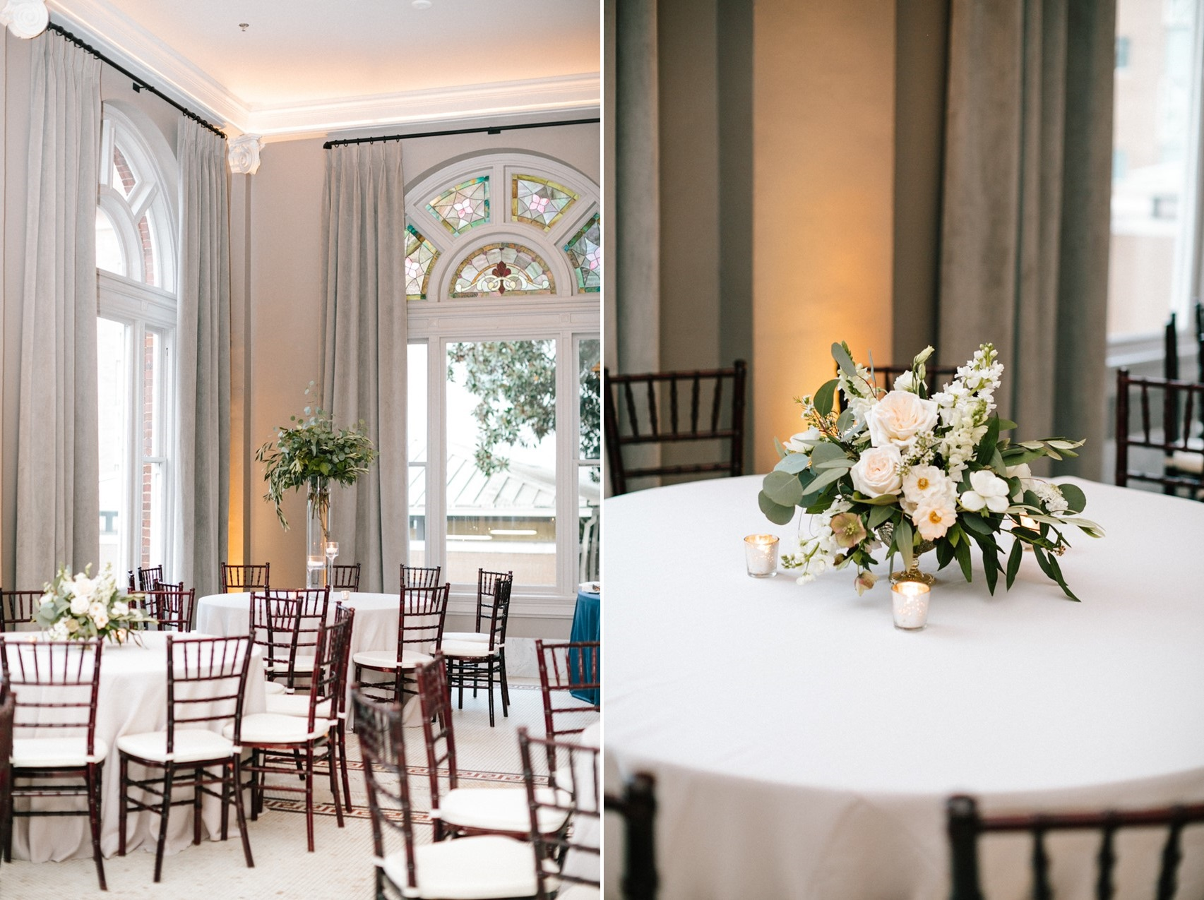 Timeless Indoor Wedding Reception