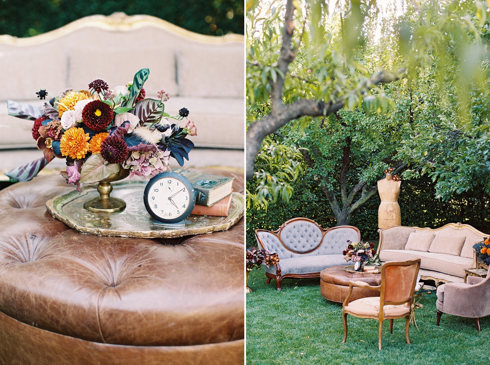 Modern Vintage Fall Wedding Lounge