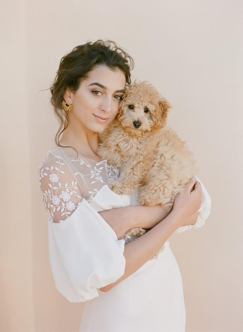Bride with Puppy