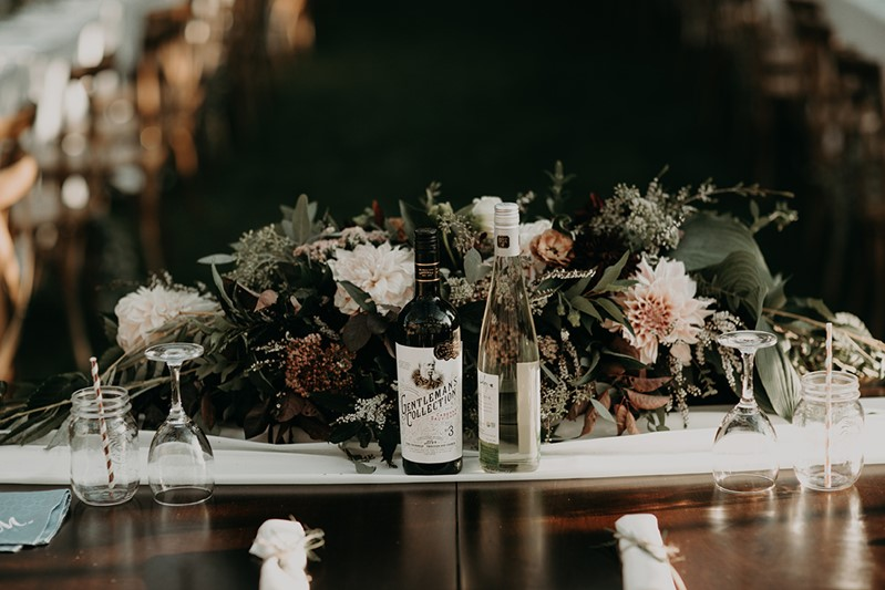 Canada Fall Greenhouse Wedding Sweetheart Table