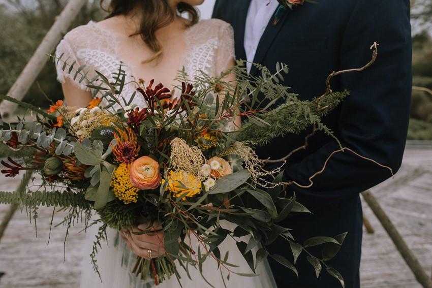Boho Fall Bridal Bouquet
