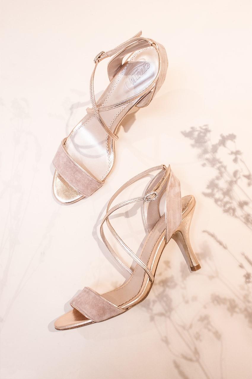 Emmy London - Darcy Misty Rose Bridal Shoes