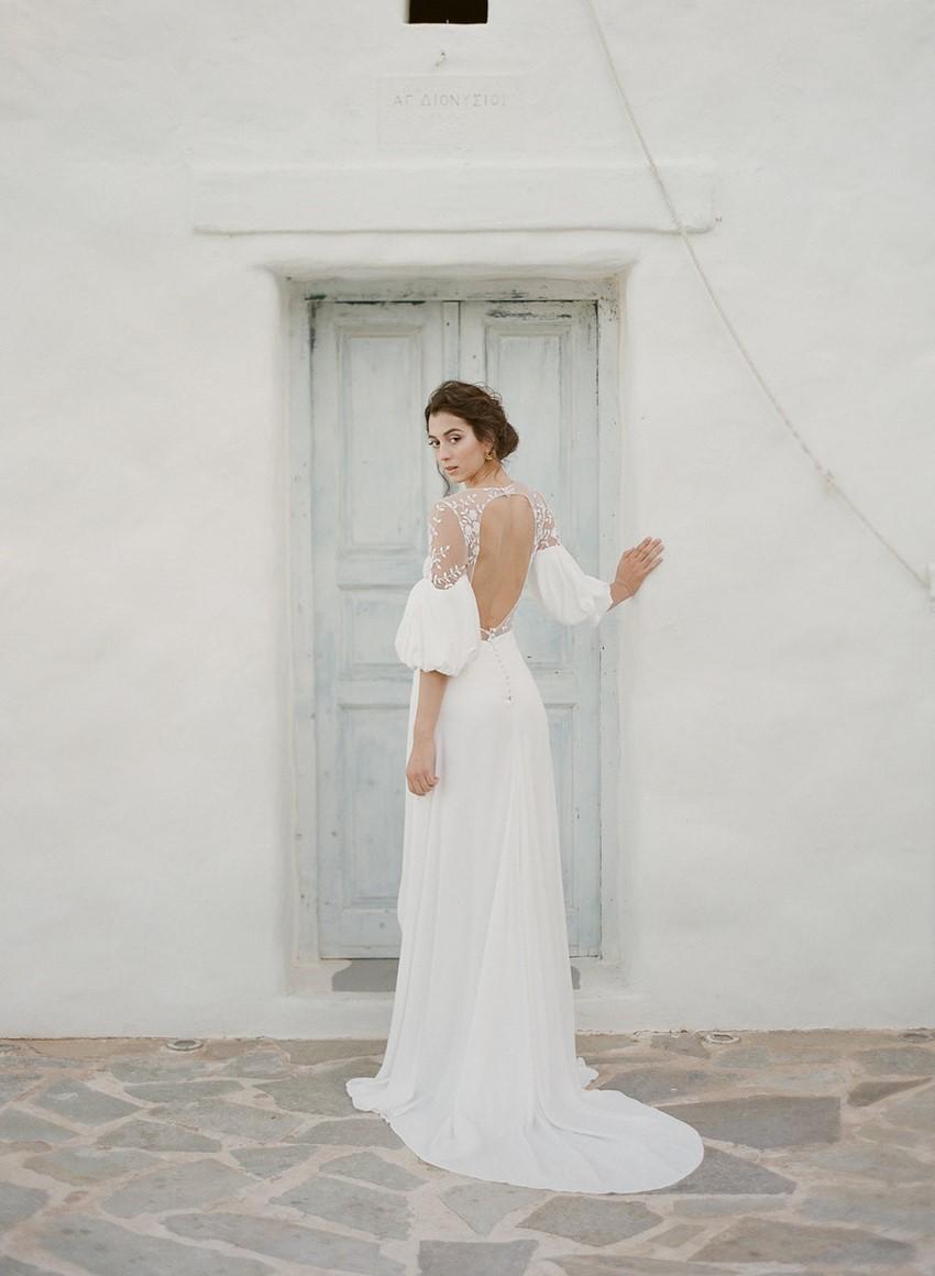 Beautiful Backed Wedding Dress