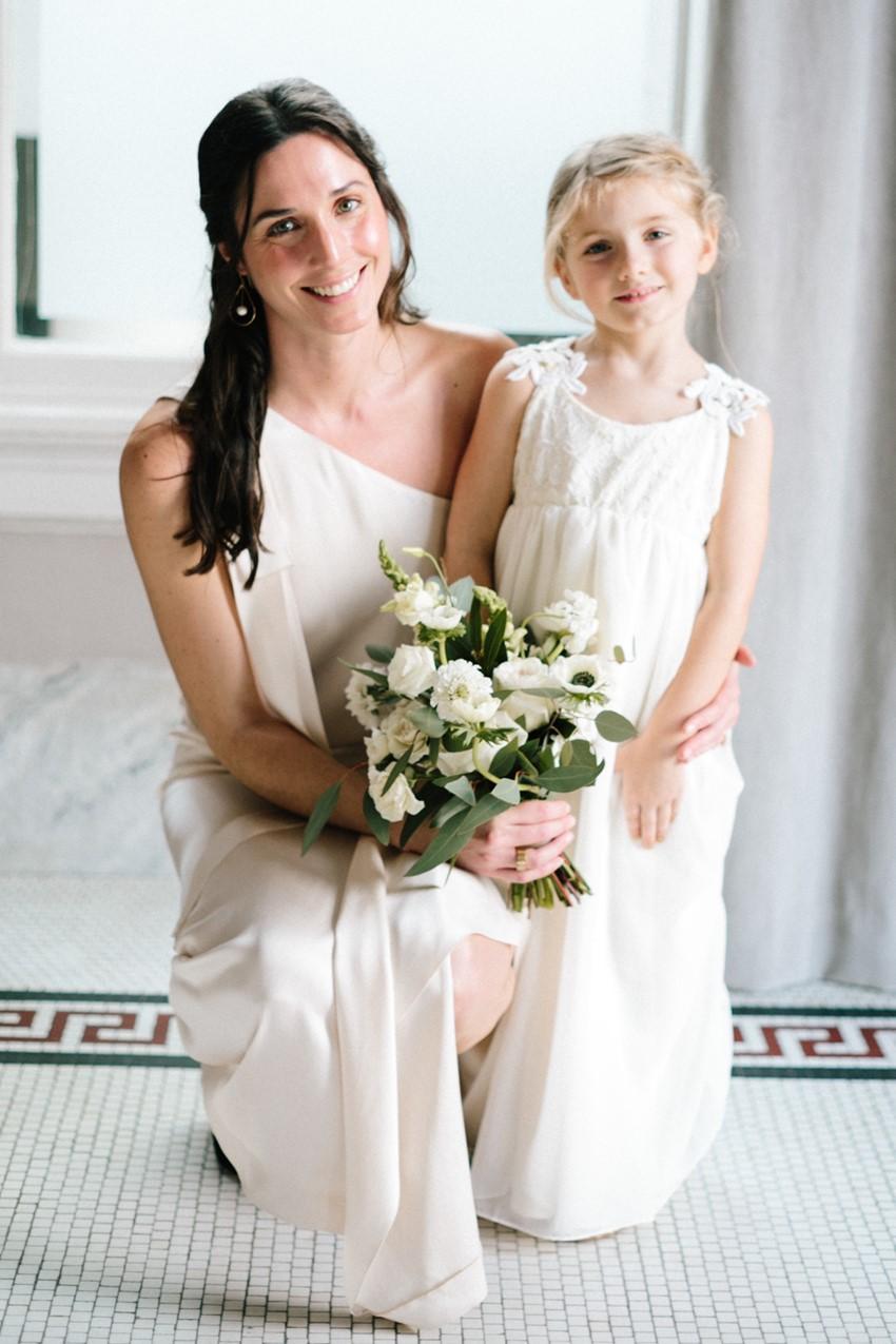 Bridesmaid & Flower Girl in White