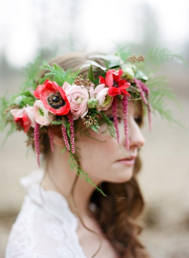 Cascading Bridal Flower Crown