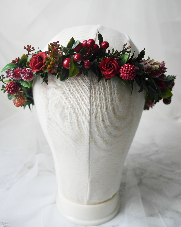Christmas Flower Crown