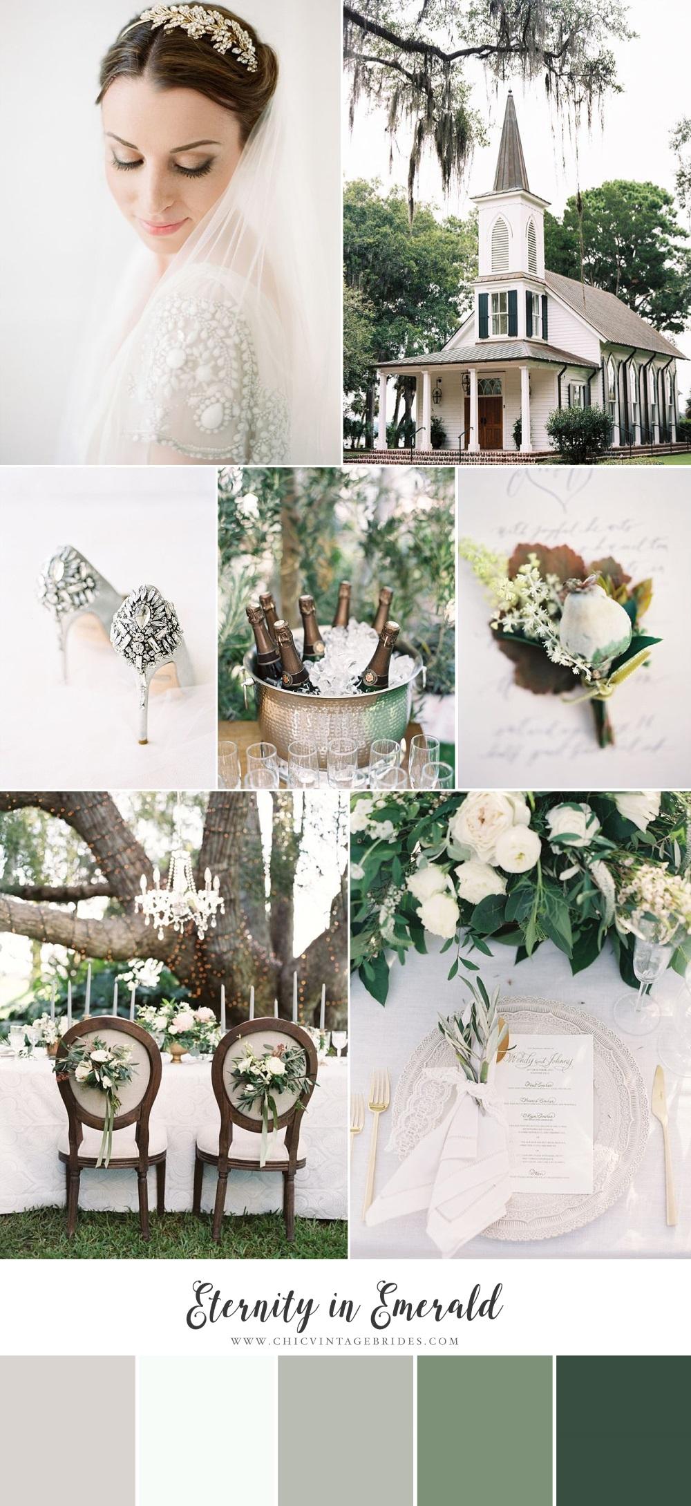 Eternity in Emerald - Timeless Wedding Inspiration Board