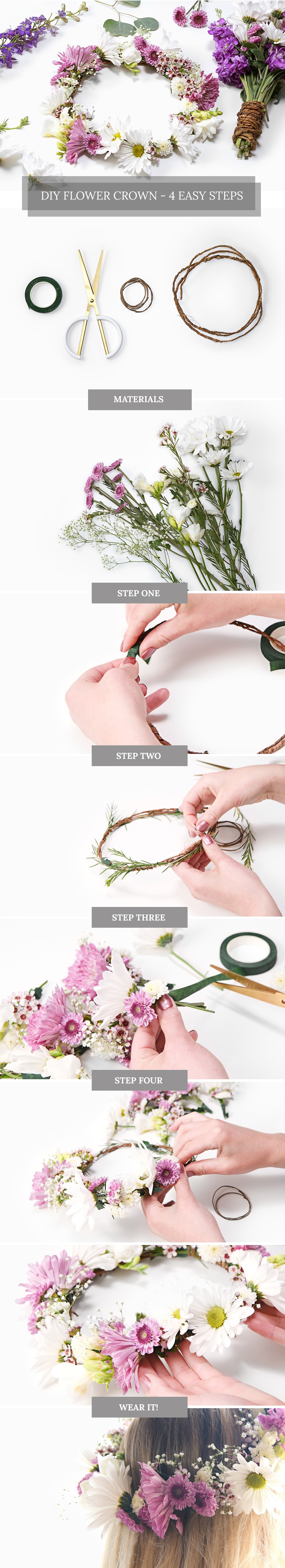 Flower Crown DIY 4 Easy Steps