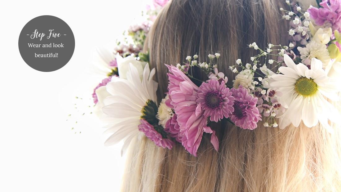 Flower Crown DIY Step 5