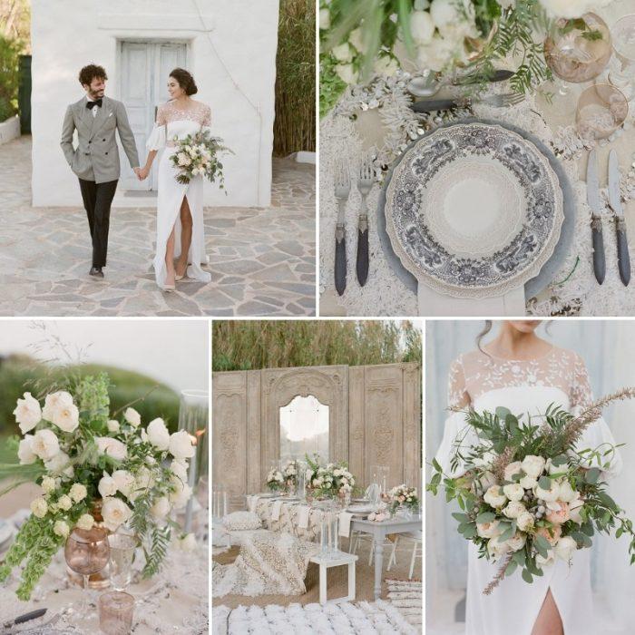 Glam Boho Wedding Inspiration on a Greek Island