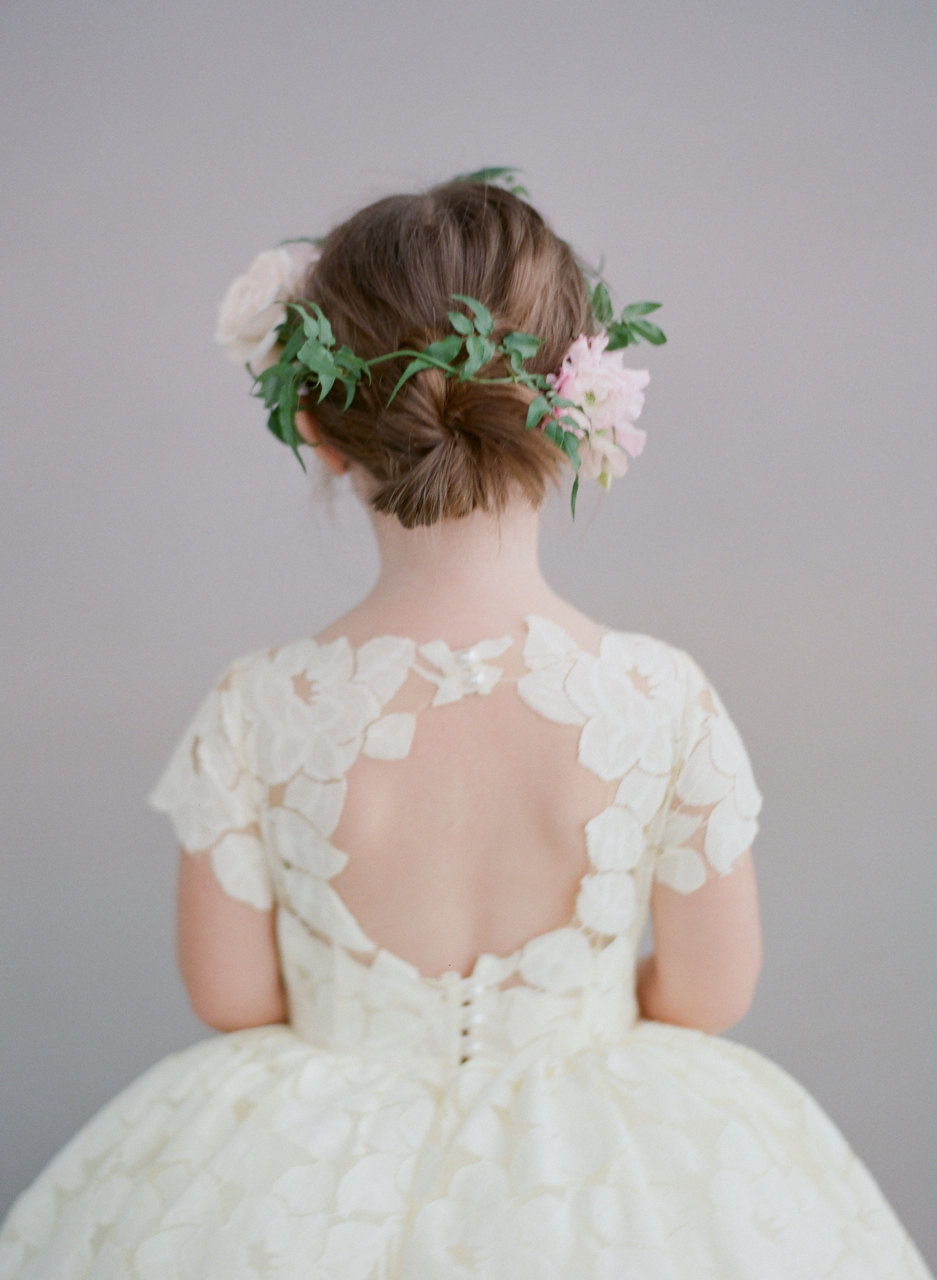Jasmin Flower Girl Flower Crown