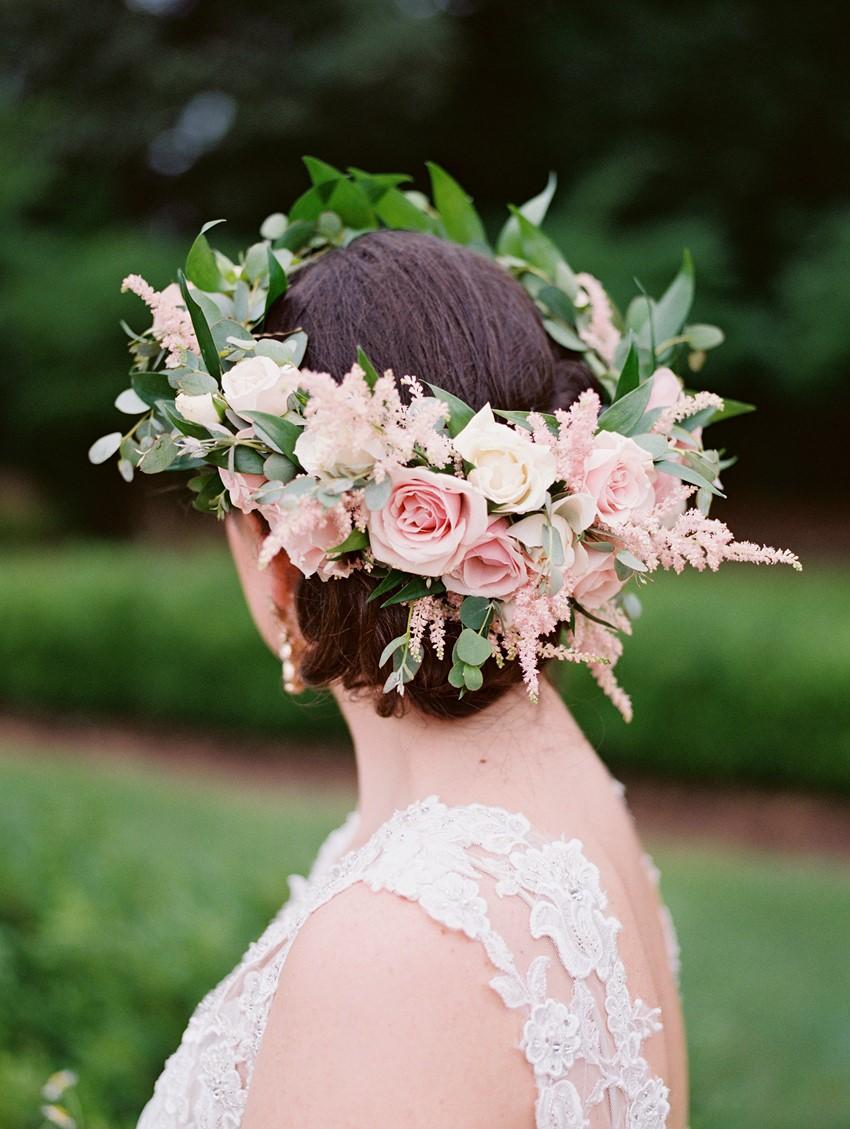 Lush Rose & Greenery Flower Crown