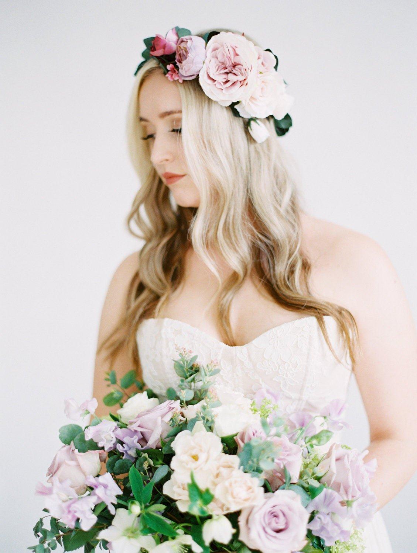 Ombre Bridal Flower Crown
