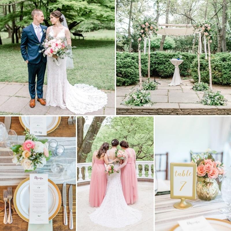 Romantic Jewish Garden Wedding in Pink & Blue