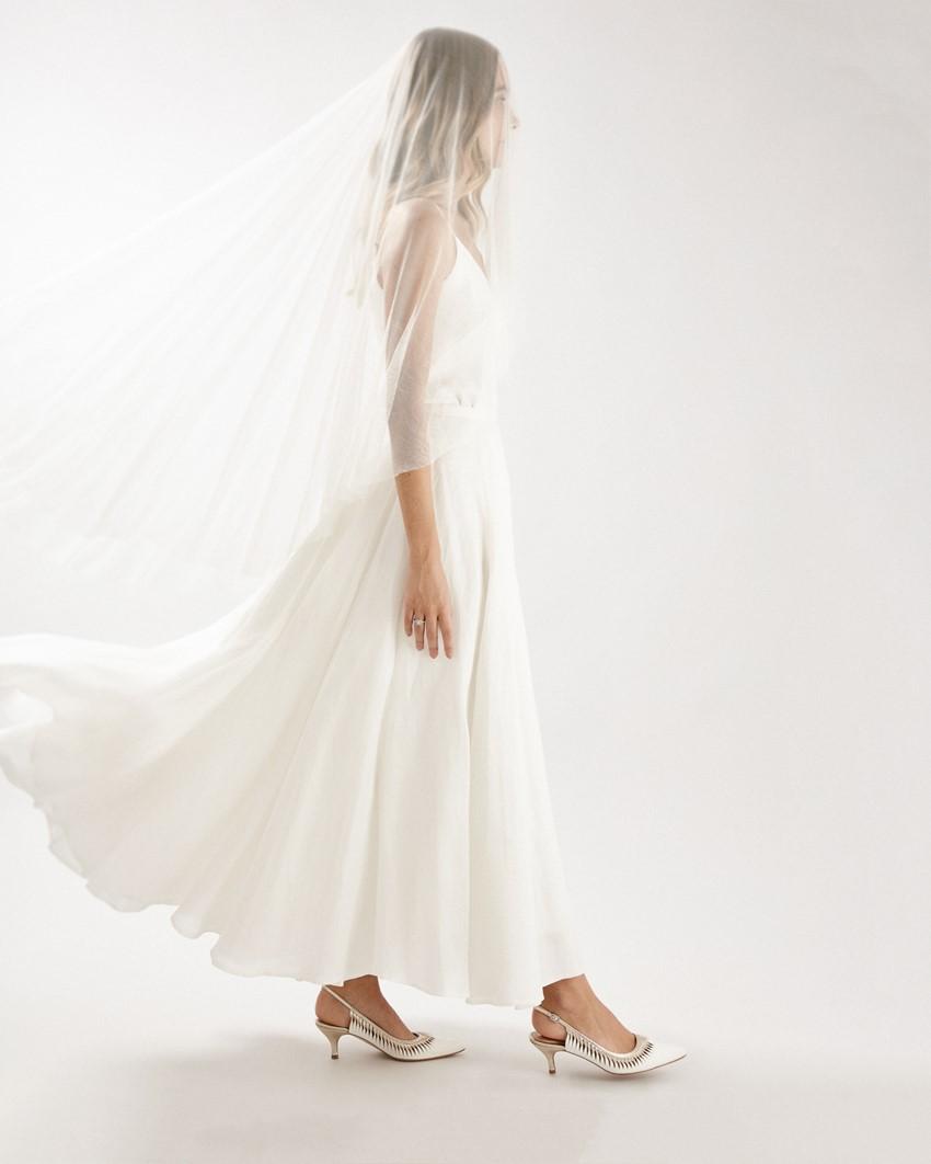 'Iris' Bridal Kitten Heels