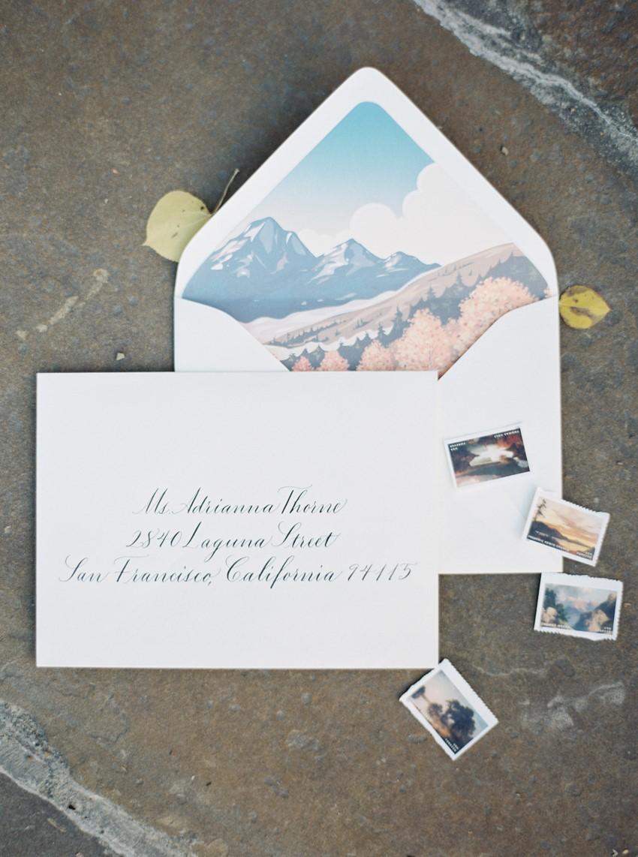 Montana Mountain Wedding Invitation