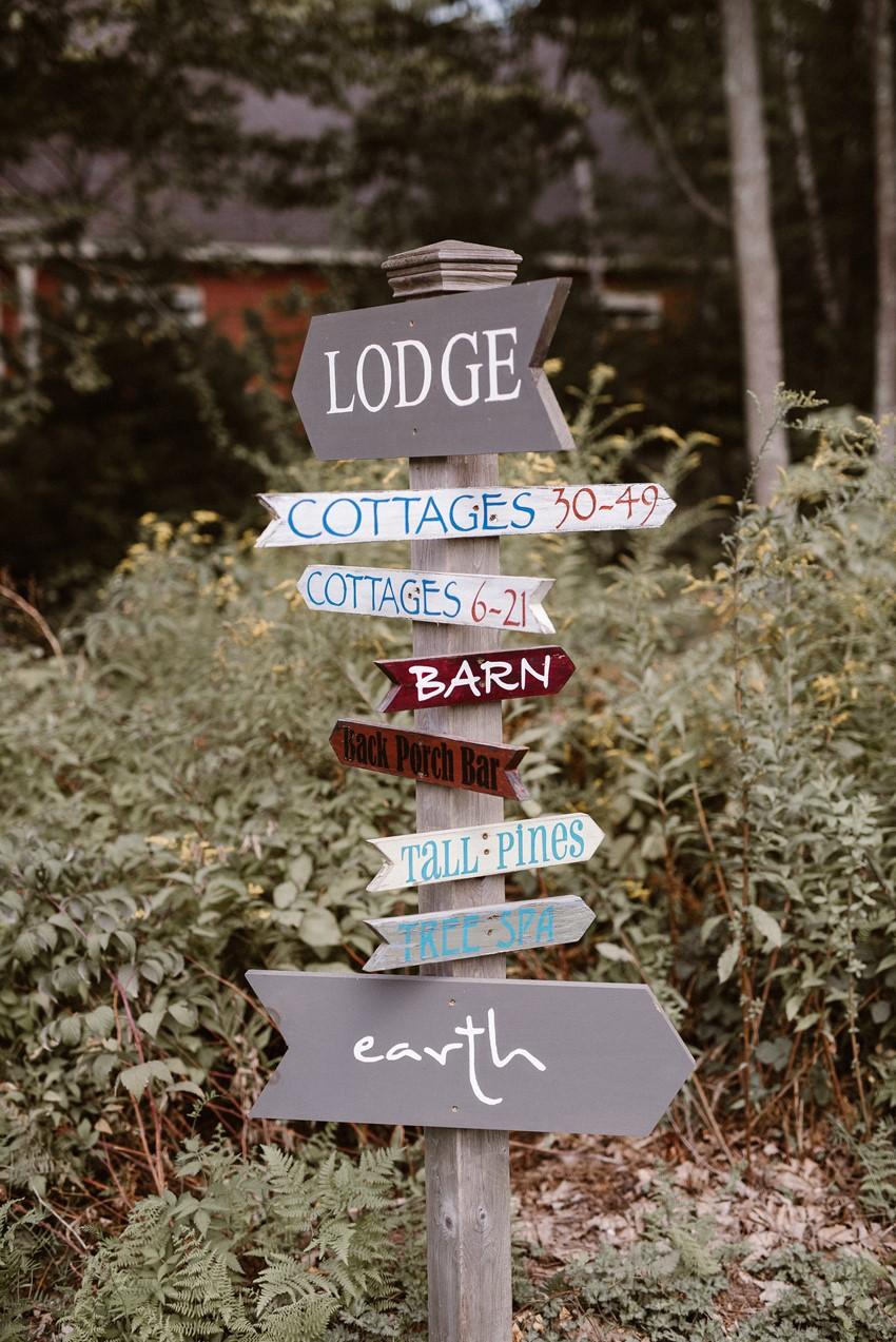 Rustic Wedding Venue Sign