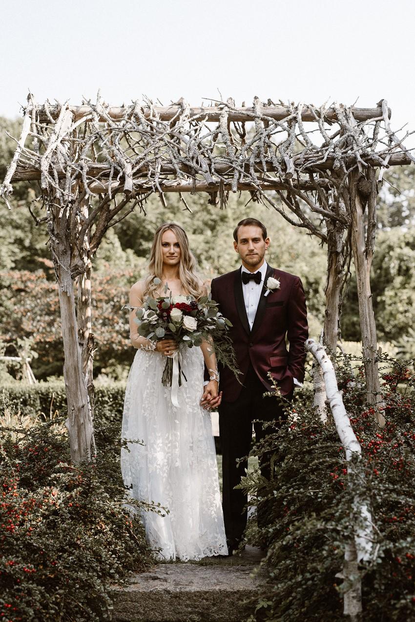 Rustic Wedding with Black Tie Elegance