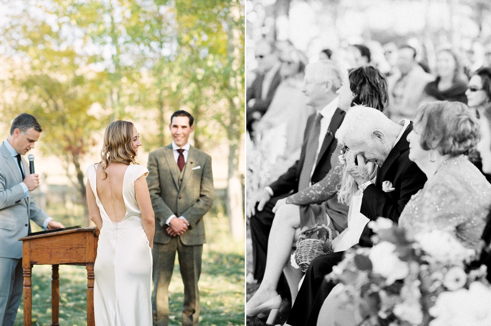 Fall Outdoor Wedding Ceremony